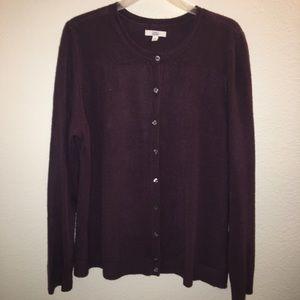 🌈 3/$20 Croft & Barrow purple cardigan. Size XL.
